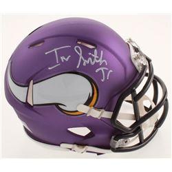 Irv Smith Jr. Signed Vikings Matte Purple Speed Mini Helmet (JSA COA)