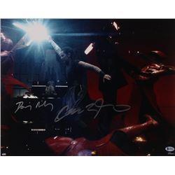 """Adam Driver  Daisy Ridley Signed """"Star Wars: Rise of Skywalker"""" 16x20 Photo (Beckett COA)"""