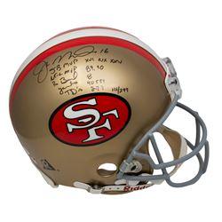 Joe Montana Signed LE 49ers Full-Size Authentic On-Field Helmet With (5) Inscriptions (JSA LOA)
