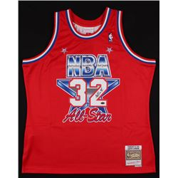 Magic Johnson Signed 1991 NBA All-Star Jersey (Schwartz COA)