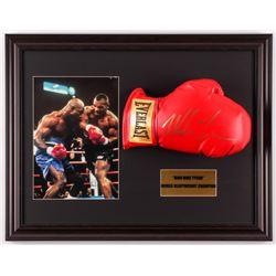 Mike Tyson Signed 17.5x22.5 Custom Framed Boxing Glove Display (JSA COA)