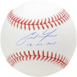 "Christian Yelich Signed Baseball Inscribed ""18 NL MVP"" (Fanatics Hologram)"