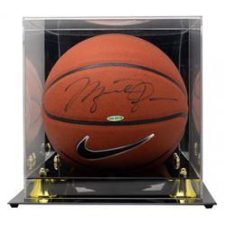Michael Jordan Signed Basketball with High-Quality Display Case (UDA COA)