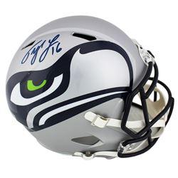 Tyler Lockett Signed Seattle Seahawks Full-Size AMP Alternate Speed Helmet (Radtke COA)