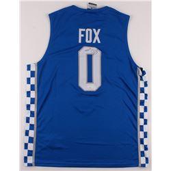 De'Aaron Fox Signed Kentucky Wildcats Jersey (JSA COA)