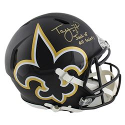 """Taysom Hill Signed Saints Full-Size Authentic On-Field AMP Alternate Speed Helmet Inscribed """"Jack of"""