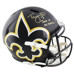 Taysom Hill Signed Saints Full-Size AMP Alternate Speed Helmet Inscribed  Jack of all Saints  (Radtk