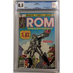 "1979 ""ROM Spaceknight"" Issue #1 Marvel Comic Book (CGC 8.5)"