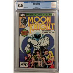 "1980 ""Moon Knight"" Issue #1B Marvel Comic Book (CGC 8.5)"