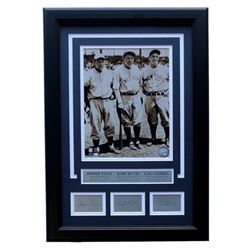 Babe Ruth, Jimmie Foxx,  Lou Gehrig 17x19 Custom Framed Photo Display