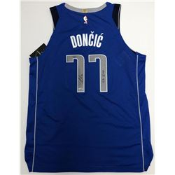 "Luka Doncic Signed Mavericks Jersey Inscribed ""19 ROY"" (Fanatics Hologram)"