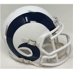 Rams Matte White Speed Mini Helmet