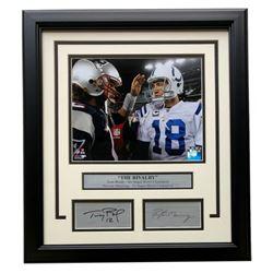 Tom Brady  Peyton Manning 11x14 Custom Framed Photo Display