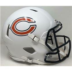 Bears Full-Size Authentic On-Field Matte White Speed Helmet