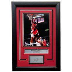 Michael Jordan Bulls 14x18 Custom Framed Photo Display