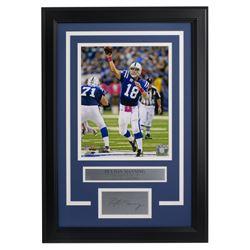 Peyton Manning Colts 14x18 Custom Framed Photo Display