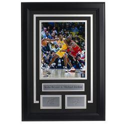 Kobe Bryant  Michael Jordan 14x18 Custom Framed Photo Display