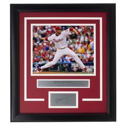 Roy Halladay Phillies 14x18 Custom Framed Photo Display