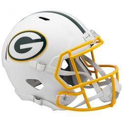 Packers Full-Size Matte White Speed Helmet
