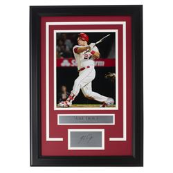 Mike Trout Angels 14x18 Custom Framed Photo Display