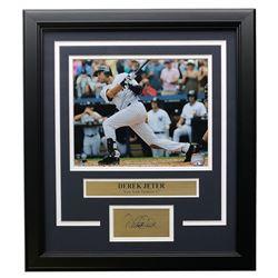 Derek Jeter Yankees 14x18 Custom Framed Photo Display