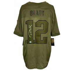 "Tom Brady Signed Patriots ""Salute To Service"" Nike Jersey (TriStar Hologram)"