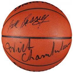 Wilt Chamberlain  Bill Russell Signed Official NBA Game Ball Basketball (JSA LOA)