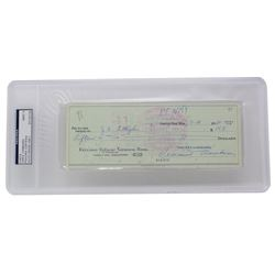 Vince Lombardi Signed Vintage 1960 Personal Bank Check (PSA Encapsulated)