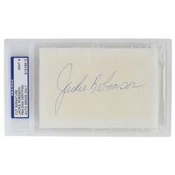 Jackie Robinson Signed 3x5 Cut (PSA Encapsulated)