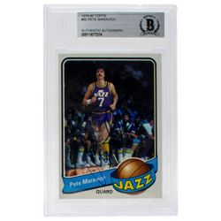 Pete Maravich Signed 1979-80 Topps #60 (BGS Encapsulated)