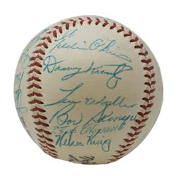 1956 Pittsburgh Pirates ONL Baseball Team-Signed by (24) with Frank Thomas, Dick Hall, Roberto Cleme