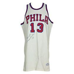 Wilt Chamberlain Signed 1966-67 76ers Jersey (UDA COA  PSA LOA)