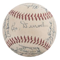1954 Giants World Series Champions ONL Baseball Team-Signed by (27) with Willie Mays, Monte Irvin, H