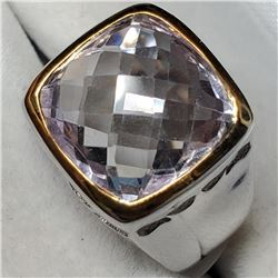 Brass Pink Amethyst (5.9ct) Ring (~Size 8)