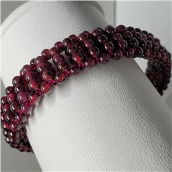 Flexible Garnet Bracelet (~length 6cm)