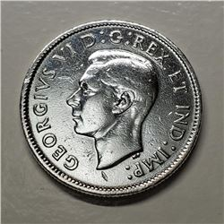 Silver Canadian $0.25 Silver Canadian 25 Cents Coin