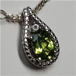 Silver Peridot Necklace (Estimated Selling Price from $30 to $60)