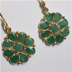 Silver Emerald Hand Crafted Earrings (Estimated Selling Price from $30 to $60)