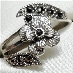 Silver Marcasite Ring (~Size 6.5)