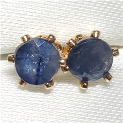 14K Gold Fill Sapphire(0.36ct) Earrings, Made in Canada