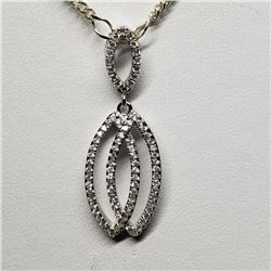 Silver With Chain Pendant