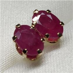 10K Yellow Gold Ruby(0.6ct) Stud Earrings Earrings, Made in Canada (Estimated Selling Price from $45