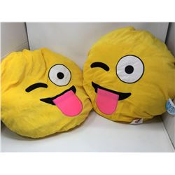 Plush Emoji Pillows (2 ct)