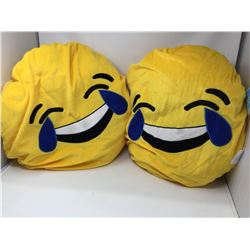 Plush Laughing Emoji Pillows (2ct)