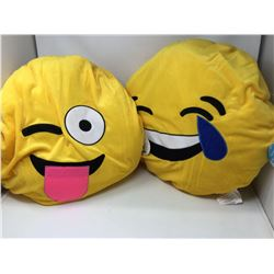 Plush Emoji Pillows (2ct)