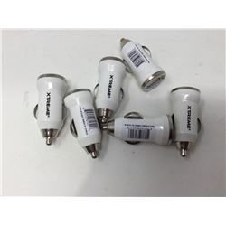 Lot of USB Phone Car Chargers (6ct) White
