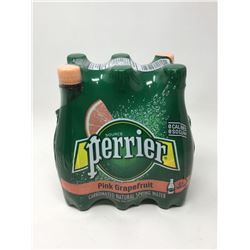 Lot of Perrier Pink Grapefruit Natural Spring Carbonated Water (6 x 500ml)