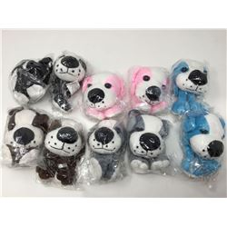 Lot of Plush Keychain Dogs