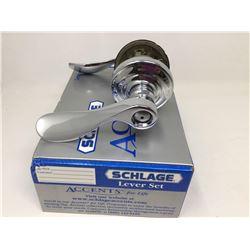 Schlage Lever Set- Nickel with Lock