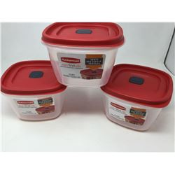 Lot of Rubbermaid with Easy Find Lids